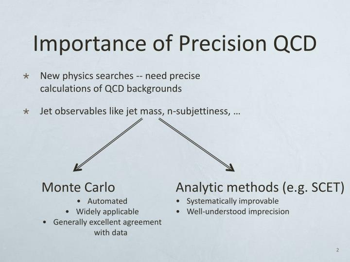 Importance of Precision QCD