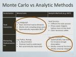 monte carlo vs analytic methods