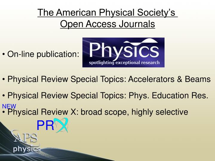 The American Physical Society's