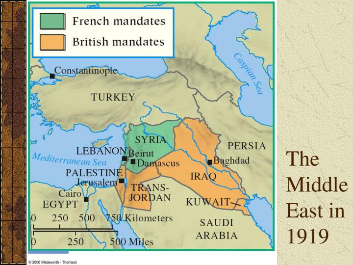 The Middle East in 1919