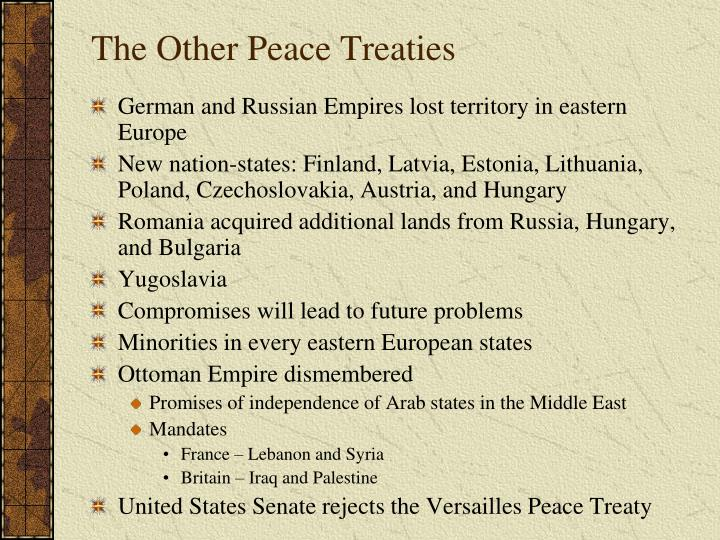 The Other Peace Treaties