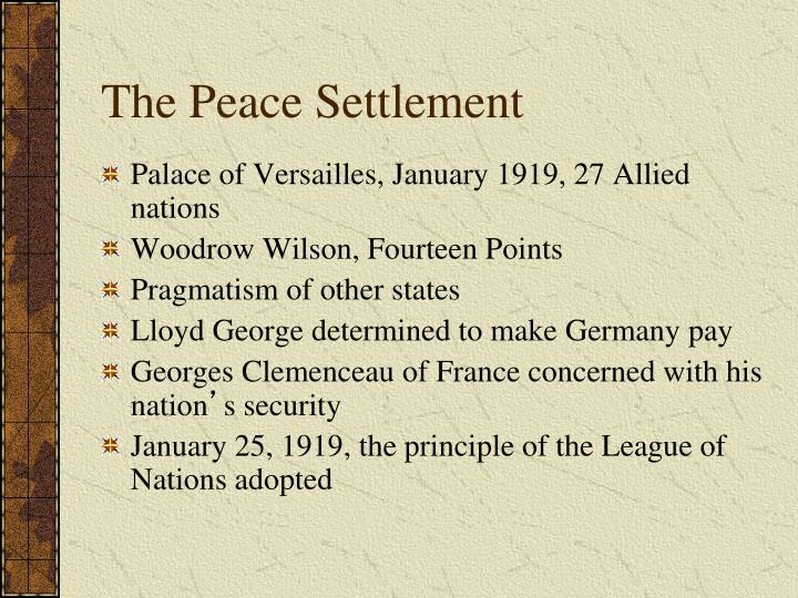 The Peace Settlement