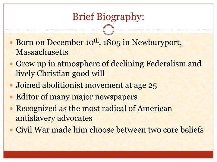 Brief Biography: