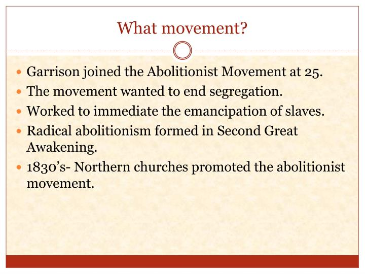 What movement?