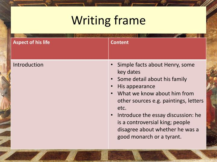 Writing frame