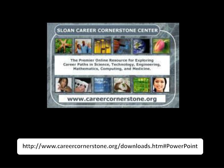 http://www.careercornerstone.org/downloads.htm#PowerPoint