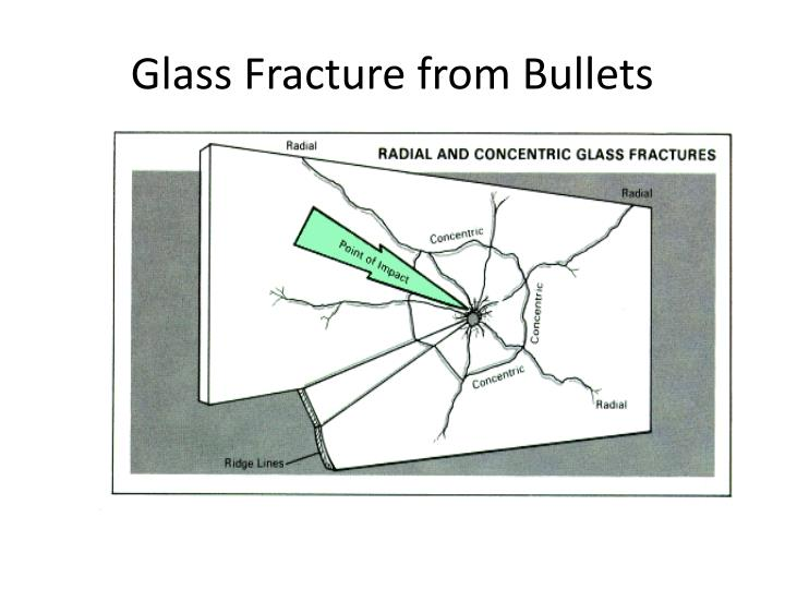 Glass Fracture from Bullets