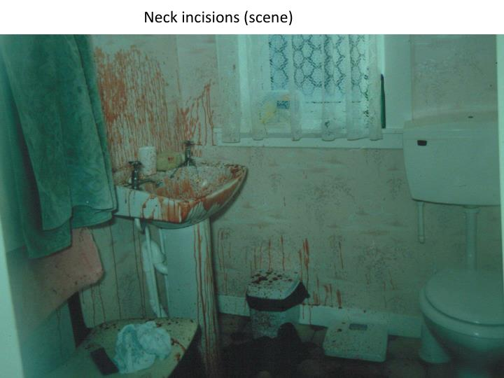 Neck incisions (scene)