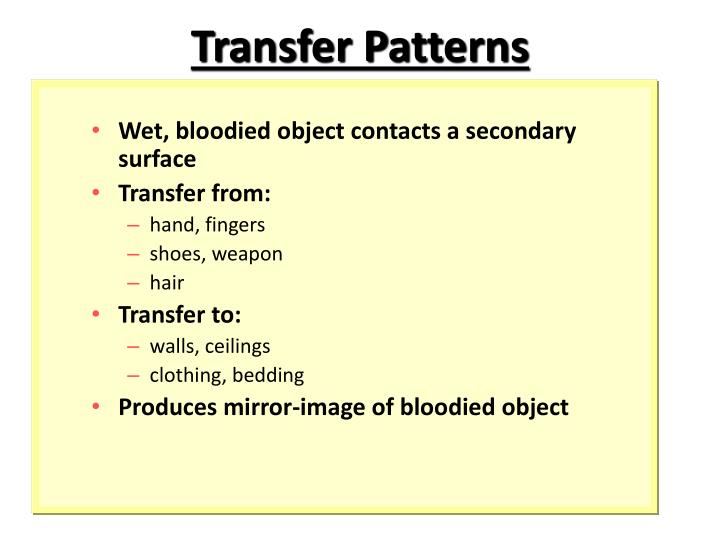 Transfer Patterns