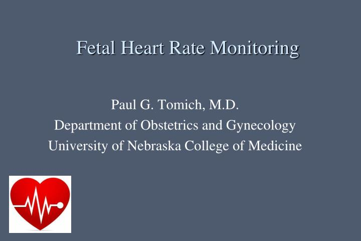 Fetal heart rate monitoring