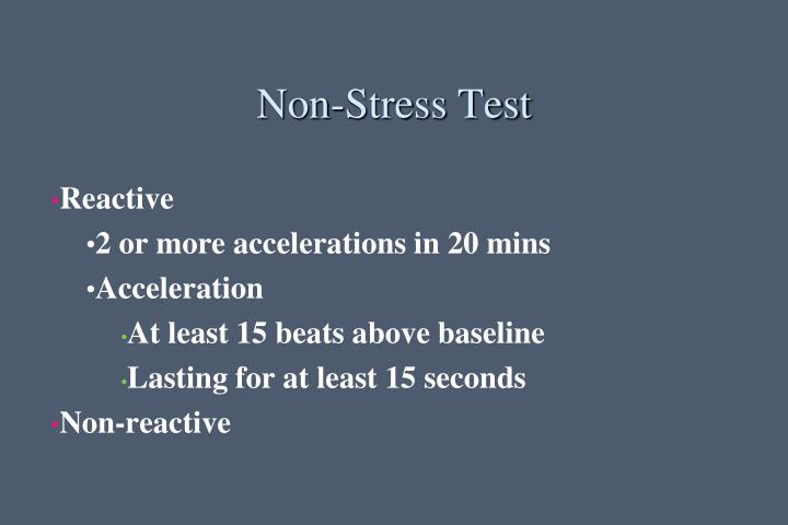 Non-Stress Test
