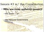 issues 3 w the constitution