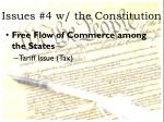 issues 4 w the constitution