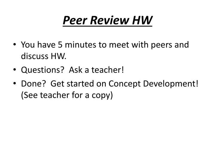Peer Review HW