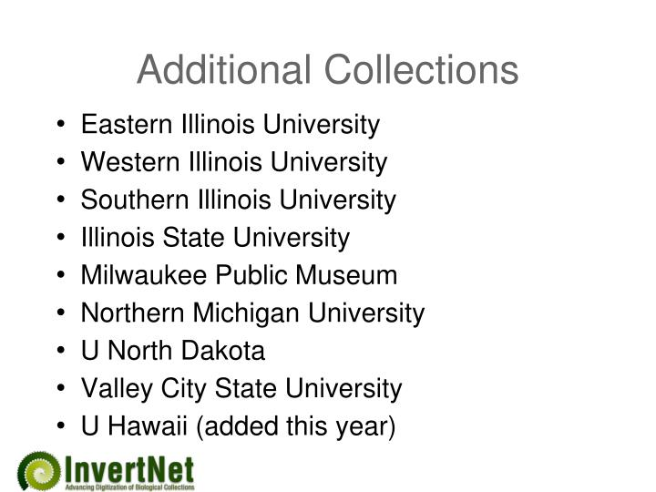 Additional Collections