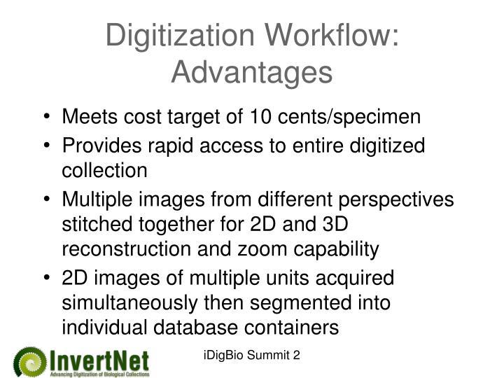 Digitization Workflow: