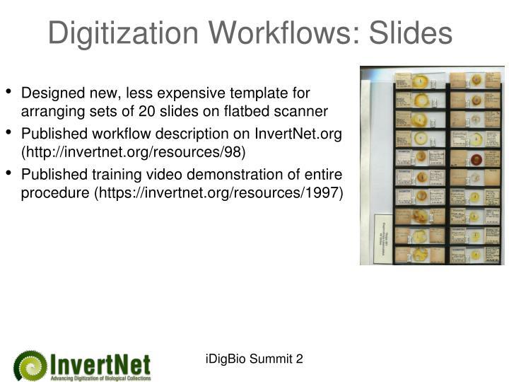 Digitization Workflows: Slides