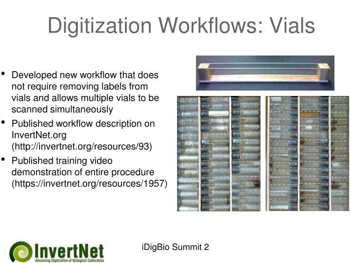 Digitization Workflows: Vials