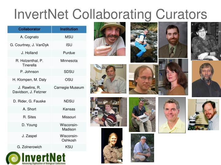 InvertNet Collaborating Curators