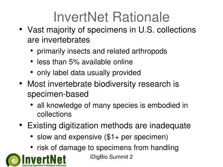 InvertNet Rationale