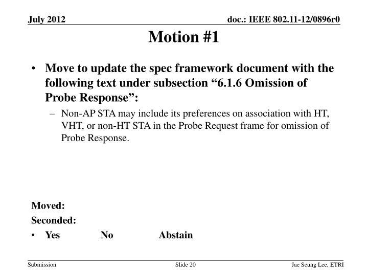 Motion #1