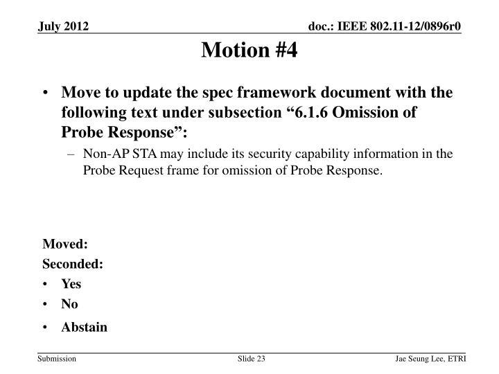 Motion #4