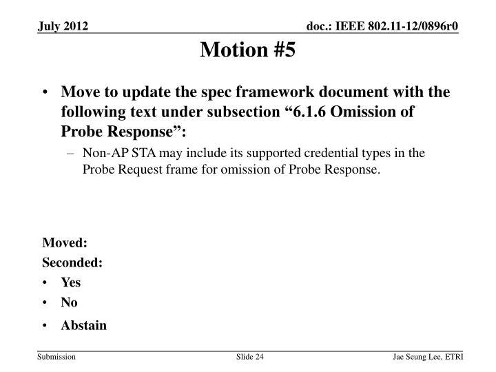 Motion #5
