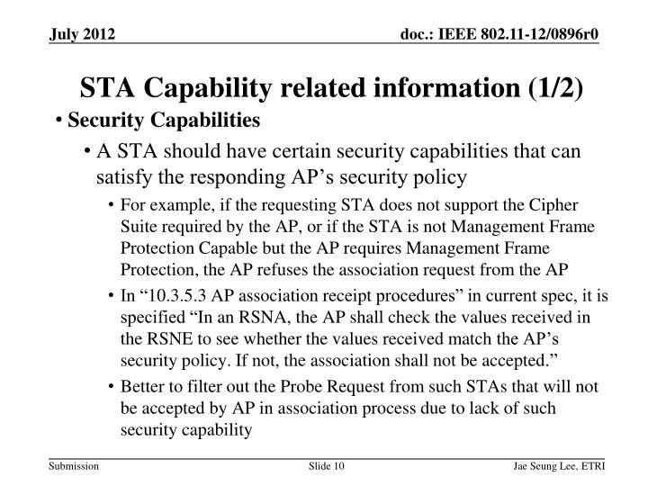 Security Capabilities