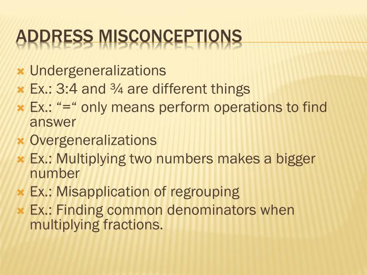 Undergeneralizations