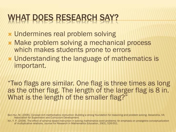 Undermines real problem solving