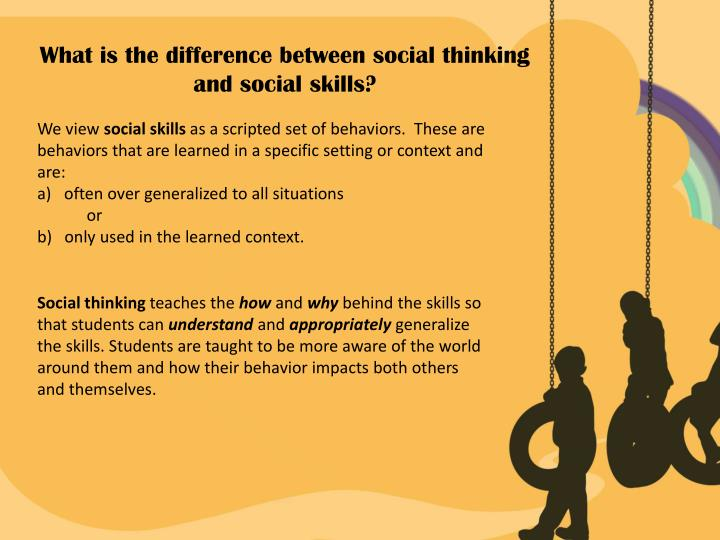 What is the difference between social thinking