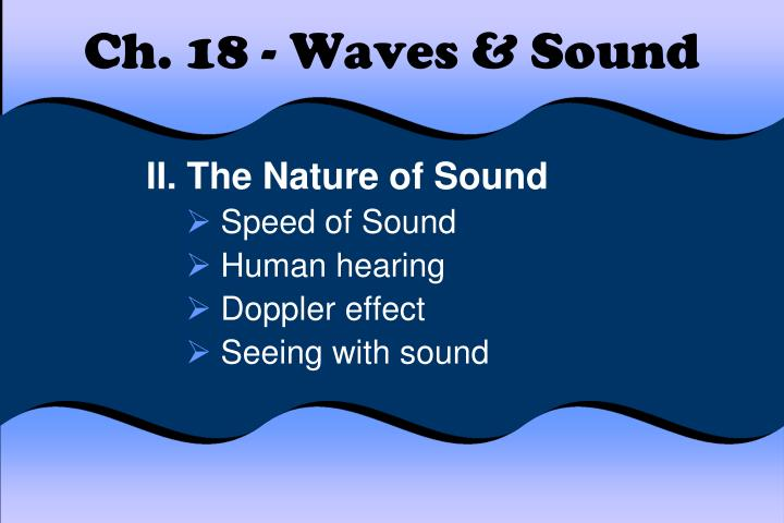 ch 18 waves sound
