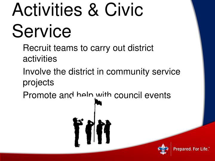 Activities & Civic Service