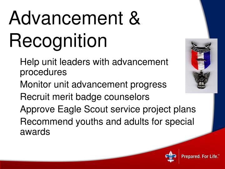 Advancement & Recognition
