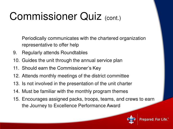 Commissioner Quiz