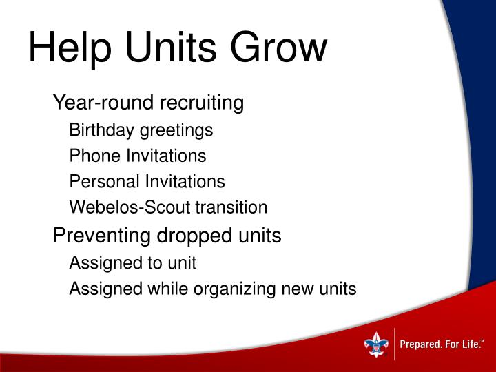 Help Units Grow