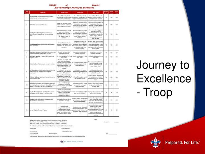 Journey to Excellence - Troop