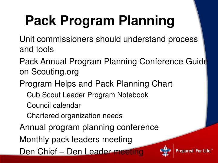 Pack Program Planning