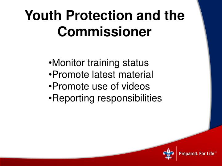 Youth Protection and the Commissioner