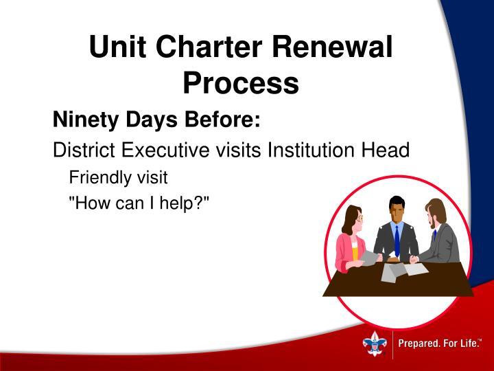 Unit Charter Renewal Process