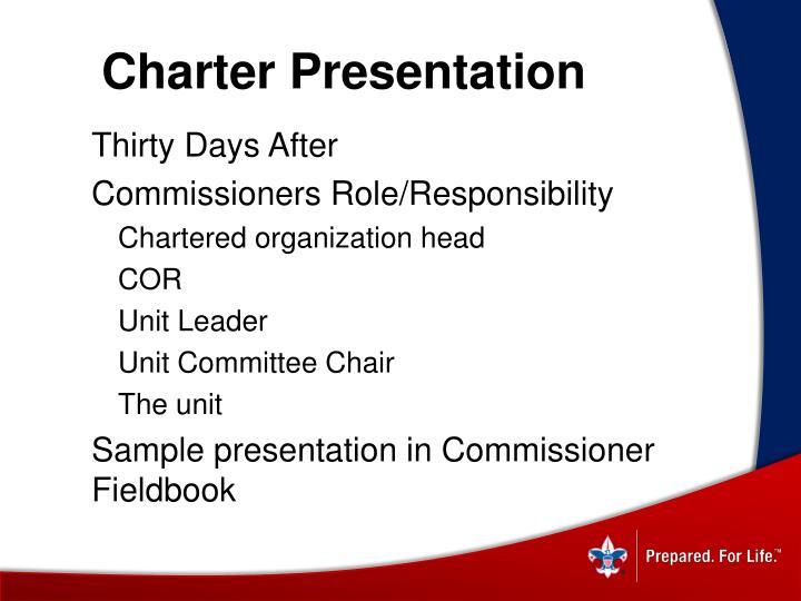 Charter Presentation