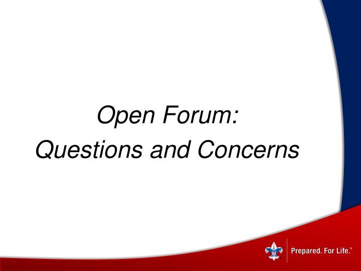 Open Forum: