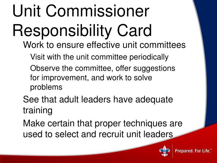 Unit Commissioner
