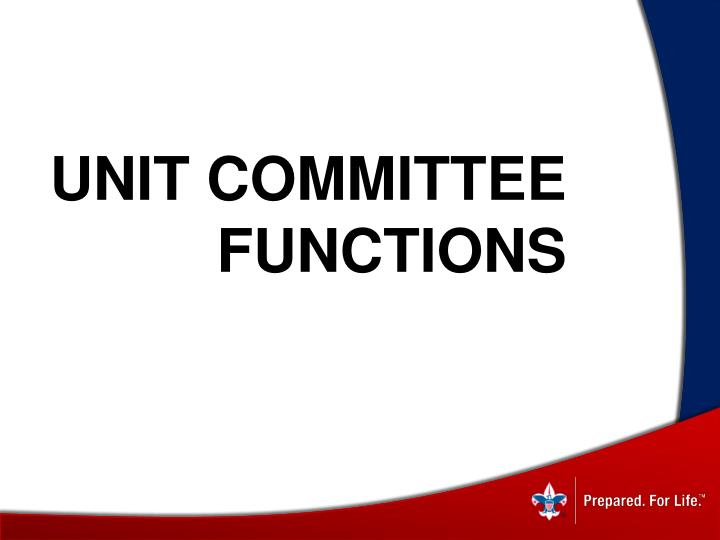 Unit Committee