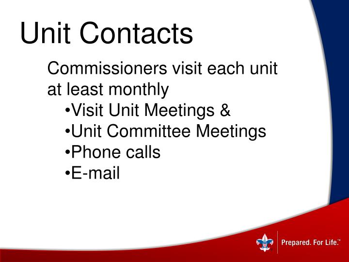 Unit Contacts