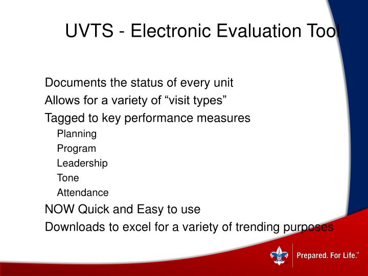 UVTS - Electronic Evaluation Tool