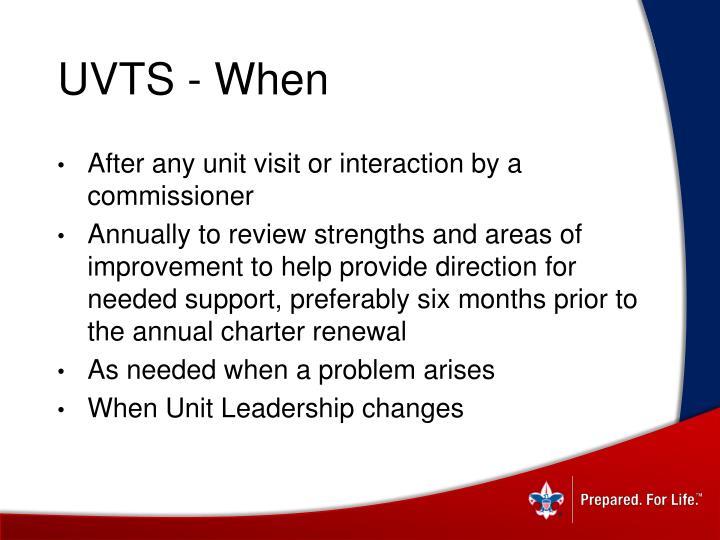 UVTS - When