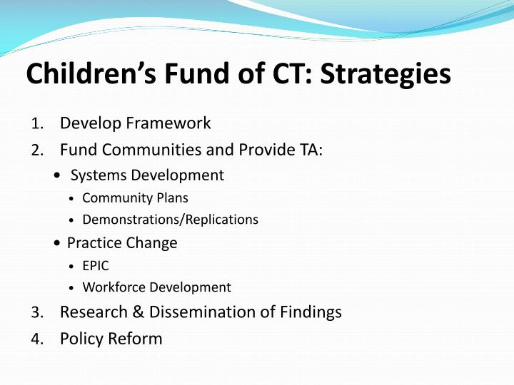 Children's Fund of CT: Strategies