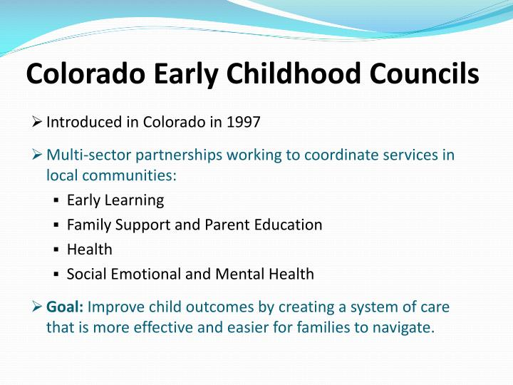 Colorado Early Childhood Councils