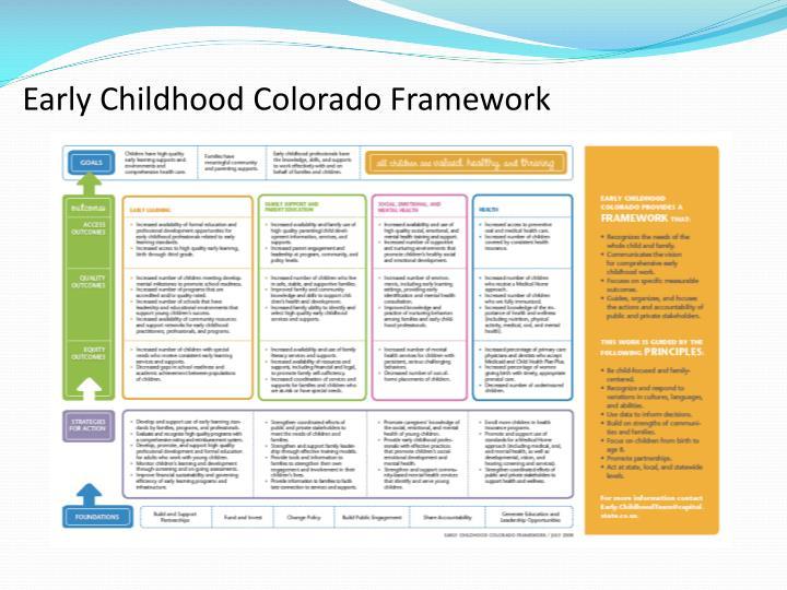 Early Childhood Colorado Framework